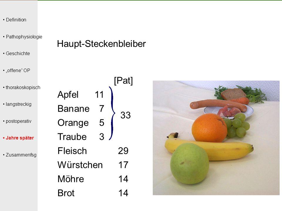 Haupt-Steckenbleiber [Pat] Apfel 11 Banane 7 Orange 5 Traube 3 Fleisch